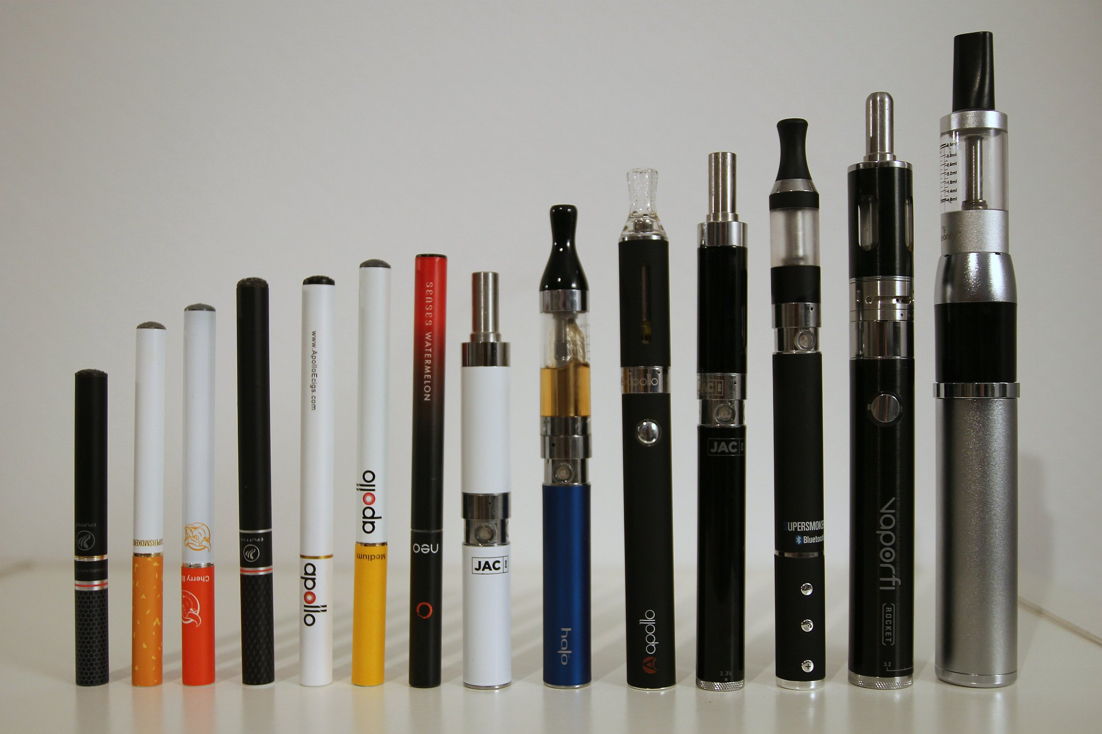 Differents types de cigarettes electroniques